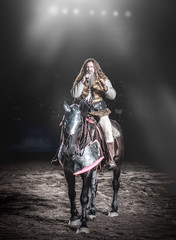 Sir Cumference (Repp1) Tags: pne people vancouver event exhibition horse cheval rider cavalier hair cheveux armor armure