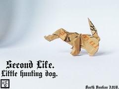 Second Life Little hunting dog  - Barth Dunkan. (Magic Fingaz) Tags: anjing barthdunkan chien chó dog hond hund köpek origami paperfolding perro pies пас пес собака หมา 개 犬 狗