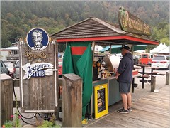 Bowen Island Takeout Grill BC18h27 LG (CanadaGood) Tags: canada bc britishcolumbia bowenisland vendor food sign people person tree canadagood 2018 thisdecade color colour cameraphone