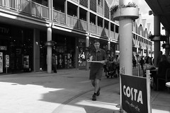 Costa Coffee (Bury Gardener) Tags: bw blackandwhite burystedmunds 2018 nikond7200 nikon england eastanglia uk britain suffolk streetphotography street streetcandids snaps strangers candid candids people peoplewatching folks arc thearc