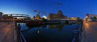 Berlin Baustelle Stadtschloss - September 2018 (Panorama)