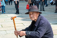 Villager in the city. (mirsavio) Tags: china fujifilmxt20 beijing old man villager portrait