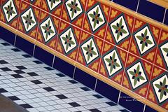 Got Tile? (Perceptual Design) Tags: ralphevelasco 1000wordsphotography 1000wordsgallery 1000words photography photo canont3i canon t3i canon600d rebel eos digital slr digitalcamera digitalslr depthoffield dof southerncalifornia california eoskissx5 eos600d orangecounty oc disneyland waltdisney tile mosaictile boldcolors repeatedpatterns green red squaretiles disney