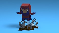 Magneto - Brickheadz MOC with custom base... (Davide il Rox) Tags: magneto brickheadz lego studio moc marvel disney xmen custom
