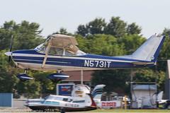 N5731T - 1964 build Cessna 172E Skyhawk, arriving on Runway 27 at Oshkosh during Airventure 2018 (egcc) Tags: 17251631 172e airventure airventure2018 ce172 cessna cessna172 eaa kosh lightroom n5731t osh oshkosh skyhawk uheninstruments