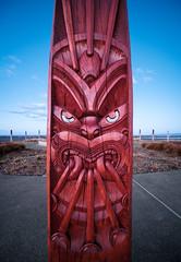 Devilish Details (ajecaldwell11) Tags: hawkesbay newzealand ankh detail carving clouds sky ateaarangi napier caldwell pou light