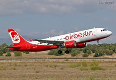 D-ABHA Airbus A320 Air Berlin (@Eurospot) Tags: prmhv dabha airbus a320 airberlin lepa pmi palma 3540