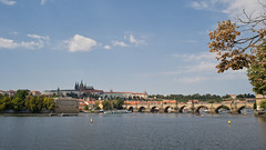 Charles bridge - Prague (MadMouseMan) Tags: travel city cityscape river water europe prague czech republic vintagelens clouds sky