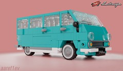 RAF-977DM (aaref1ev) Tags: lego digital designer ldd raf 977 dm im eraz 762 ambulance microbus ussr cars mecabricks blender render moc own creation soviet 6wide minifigure scale russian community