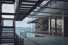 Stairs Game • El juego de las escaleras (fotovilaplana) Tags: centrobotin botincenter santander cantabria spain architecture stairs contemporaryart museum exterior nobody fujifilmxpro2 fujifilmxf1855 building xseries fujifilm modernarchitecture