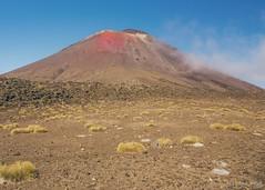 Mt Doom in Summer (Ariel NZ Photos) Tags: mountain crossing tongariro rocks sky volcano hike olympus newzealand