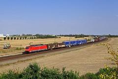 189 055-7 DB Cargo (Zugbild) Tags: bahn zug eisenbahn rail train sachsen siemens br189 schkeuditz felder verkehrsrot