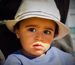 Petit bonhomme! (dominiquita52) Tags: child enfant boy toddler garçon eyes yeux hat chapeau stare regard
