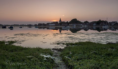 Beside the spire (Through Bri`s Lens) Tags: sussex boshamharbour sunset church spire seaweed yachts moorings brianspicer canon5dmk3 canon1635f4
