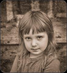 Those Eyes (jta1950) Tags: d600 noireblanc kid child enfant bw blackandwhite children person people girl fille portrait cute adorable 3yearold little young