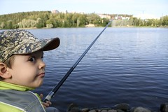 What are you looking at? (arcticbramble) Tags: poika boy järvi lake vesi water onki fishing
