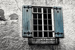 Beyond the blue shutters (phileveratt) Tags: windowwednesdays windowwednesday happywindowwednesday hww window shutters canon eos77d efs18135