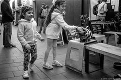 meeting the blind rescue cats  #419 (lynnb's snaps) Tags: 201808 35mm cv21mmf4ltm ilfordfp4 leicaiiic manly xtol bw blackandwhite cafe cats children film fp4 street manlyvillage sydney australia 2018 cute bianconegro blackwhite bianconero biancoenero blancoynegro noiretblanc monochrome ishootfilm leicafilmphotography cv35mmf25colorskoparltm rangefinderphotography barnack