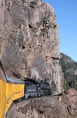 LAS ANIMAS CANYON (dayvmac) Tags: durango silverton narrowgauge train scenery steamlocomotive durangoandsilverton colorado heritagerailway railway trains railroad
