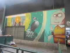 379 (en-ri) Tags: mr fijodor airone giallo nero grigio arancione uomo man torino wall muro writing graffiti