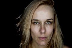 Ainslie (michael blacklow) Tags: portrait woman emotion raw nikon dark soul eyes face thought naturalbeauty beautiful studio ringlight