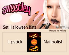 Set Halloween Bats add (Sweetley SL) Tags: sweetley secondlife bats cats halloween festive decorate nailsapplier hud catwa maitreya mesh bento marketplace mainshop makeup lipstick manicure pedicure costume celebrate holidays 3dworld new original trending pumkin