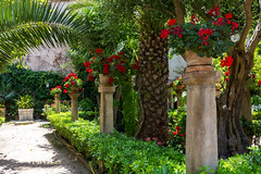 Palma 27 June 2018 01122.jpg (JamesPDeans.co.uk) Tags: baths forthemanwhohaseverything landscape flowers plants nature printsforsale roads sign language red gardens geraniums columns colour spain majorca palma jamespdeansphotography wwwjamespdeanscouk history architecture mallorca landscapeforwalls europe arabic digitaldownloadsforlicence