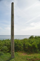 The Wreck Post (Worthing Wanderer) Tags: southwestcoastpath cornwall cornwallcoast coast cloudy sunny river path summer august place roseland pendower