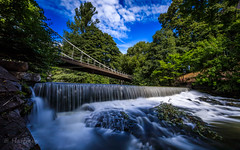 Slow motion (Hattrem72) Tags: long exposure river waterfall water trees bridge sky canon cloud contrast color rocks