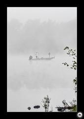 "Swartswood Fishermen (Big Bald Biker) Tags: ""highkey"" boat ""newjersey"" swartswood foggy fog misty mist fishermen fishing"