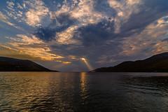 The sun rays (Vagelis Pikoulas) Tags: sun rays sunset summer august 2018 landscape sea seascape porto germeno greece canon 6d tokina 1628mm sky skyscape clouds cloudy cloud cloudscape reflection reflections