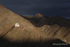 Leh Ladakh (Rolandito.) Tags: asia india inde ladakh jammu kashmir kaschmir shanti stupa monastery sunset clouds leh