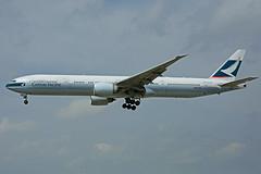 B-KQL (Cathay Pacific) (Steelhead 2010) Tags: yyz cathaypacific boeing b777 b777300er breg bkql
