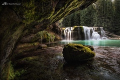 Lower Lewis Take 2 (Matt Straite Photography) Tags: waterfall water stream river cave behind green color rocks natural state parks oregon canon landscape outside tripod braket forest trees moss
