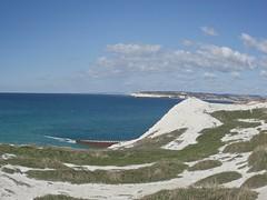 Cliff Top View (bimbler2009) Tags: olympustg4 sea landscape sky ocean fisheye cliff grass cloud