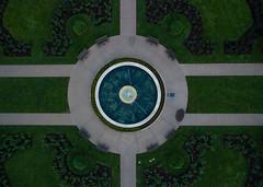 The Rose Garden (Kevin VanEmburgh Photography) Tags: arial dji drone firstlight kansascity kevinvanemburghphotography loosepark rosegarden sunrise missouri unitedstates us symmetry