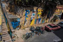 City underground (ericbaygon) Tags: bike tag graffiti nikon d750 portugal lisbon lisbonne escalier stair decay