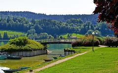 Saint-Point lac, le port (Diegojack) Tags: france franchecomté doubs d500 lac saintpoint port passerelle nikonpassion