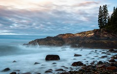 Acadia-Blue Hour Meets Sunrise (rickhanger) Tags: acadia acadianationalpark acadianp nature nationalpark sunrise bluehour landscape seascape surf waves cliffs clouds maine morninglight earlymorning dawn