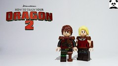 How To Train Your Dragon 2 - Hiccup & Astrid (Random_Panda) Tags: lego figs fig figures figure minifigs minifig minifigures minifigure purist purists character characters film films tv television movies movie cartoon dreamworks how to train your dragon 2 httyd hiccup astrid toothless
