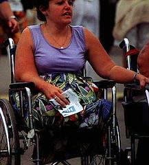 Legless at the Fair 02 (jackcast2015) Tags: disabledwoman disabled disabledlady wheelchair wheelchairwoman crippledwoman crippledlady amputee amputeewoman dak a nolegs