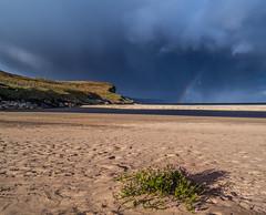 Storm incoming (Impact Imagz) Tags: beach sept2018 tolsta traighmhor isleoflewis rainbow showers rainshowers westernisles outerhebrides sand cloudsstormssunsetssunrises cloudscapes weather seascape