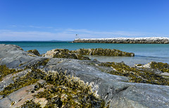 Gone Fishin' ({Brinkervelt}) Tags: kennebunkport maine blue rocks rocky seaweed colorful beautiful clouds seascape landscape outside outdoors