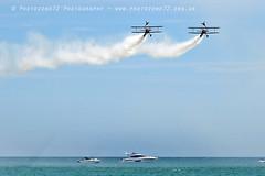 8038 Wingwalkers (photozone72) Tags: eastbourne airshows aircraft airshow aviation canon canon7dmk2 canon100400f4556lii 7dmk2 wingwalkers aerosuperbatics boeing stearman biplane