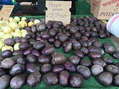 Purple potatoes from Weiser Farms (TomChatt) Tags: food farmersmarket