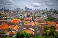 View of Bangkok from Golden Mountain Temple, Bangkok, Thailand (CamelKW) Tags: thailand2018 bangkok bangkokmetropolitanregion thailand th goldenmountaintemple