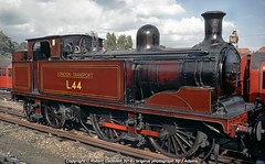 1961 - 'Metropolitan' at Stanmore.. (Robert Gadsdon) Tags: 1961 londontransport 044t l44 metropolitanno1 stanmorestation southerncountiestouringsociety metropolitanrailtour steam withdrawn preserved