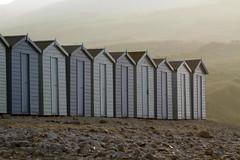 Charmouth Beach Huts (Tim Aldworth) Tags: beach jurassiccoast coast dorset westdorset charmouth seaside earlymorning huts beachhuts blue bluehuts lymebay somethingblue morning