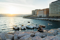 (Marius Brede) Tags: naples neapel sunset sunshine water coast habour schiffe boote liebe castel dellovo sonya7ii sonyfe28mmf2 sonyilce7m2