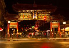 Gate of Harmonious Interest (vanessa_macdonald) Tags: nightphotography chinatown longexposure longexpo urban cityscape city streetscape street